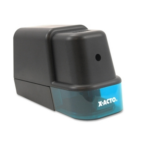 X-Acto Model 2000 Black/Teal Electric Pencil Sharpener (EPI19221), X-Acto brand Image 1