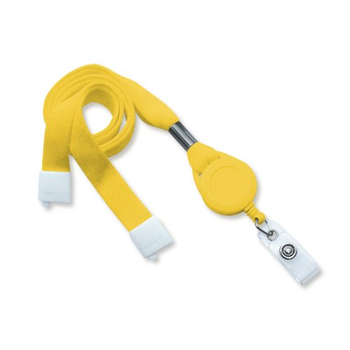 Yellow Break-Away Lanyard Badge Reel Combo - 100pk (MYID21387009) Image 1