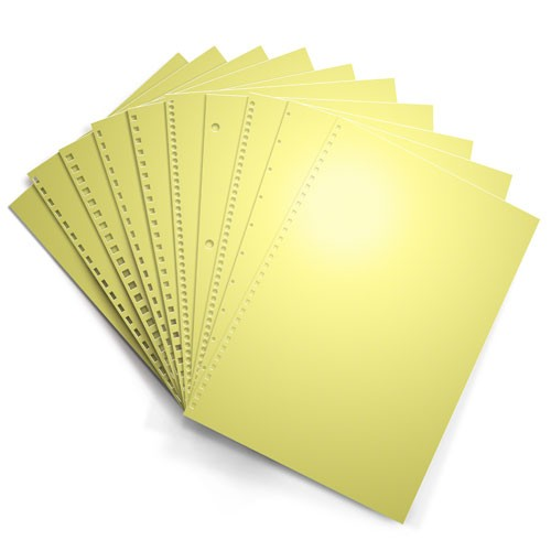 Yellow Punched Binding Paper Image 1