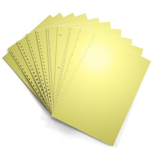Pastel Yellow 24lb Punched Binding Paper - 500 Sheets (PPP24EOYE), MyBinding brand Image 1
