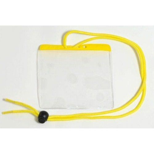 Yellow Extra Large Color Bar Badge Holders with Neck Cords - 100pk (1860-2909) Image 1