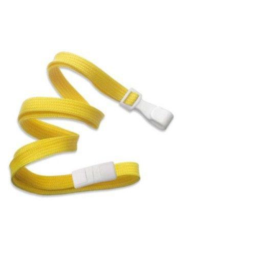 Yellow Flat Braid Break-Away Lanyard with Wide Hook - 100pk (2137-4742) Image 1