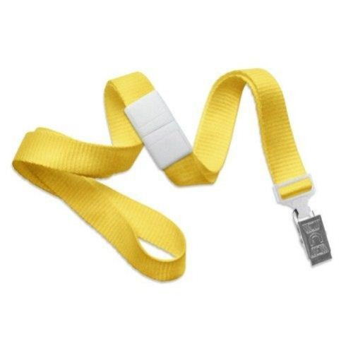 Yellow Microweave Break-Away Lanyard with NPS Bulldog Clip - 100pk (MYID21386009), MyBinding brand Image 1