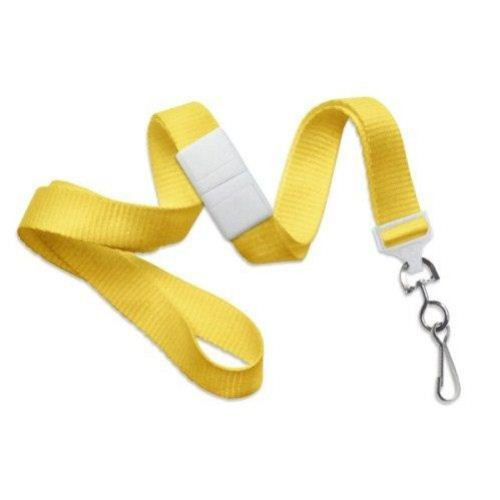 Yellow Microweave Break-Away Lanyard with NPS Swivel Hook - 100pk (2138-5009), MyBinding brand Image 1