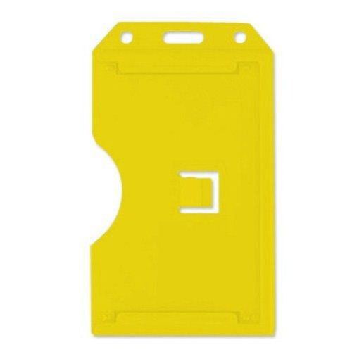 Yellow Open Face 2-Sided Vertical Rigid Card Holders - 50pk (1840-3089), MyBinding brand Image 1