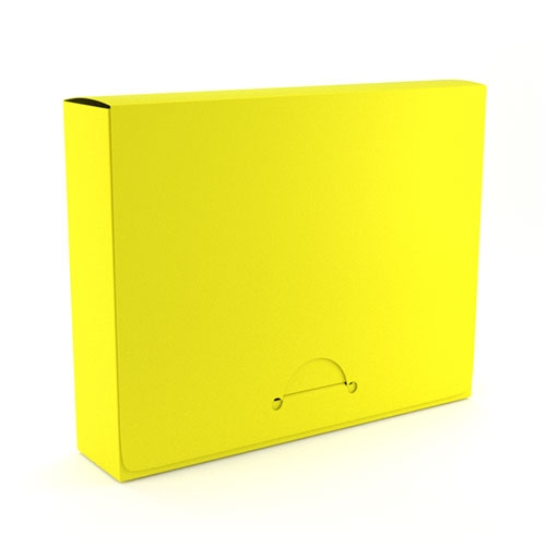 "1"" Letter Yellow Poly Document Boxes (MYPDB100YW), Binding Covers Image 1"