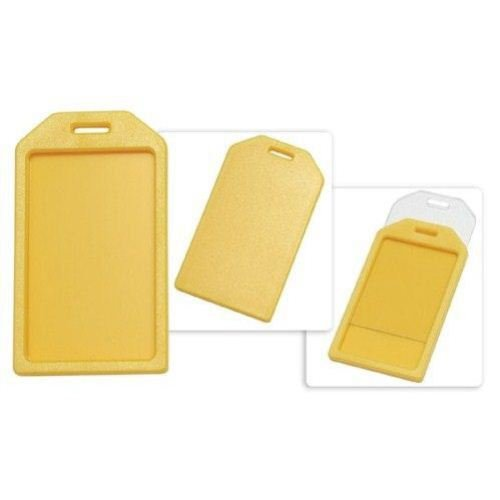 Yellow Rigid Plastic Heavy Duty Luggage Tag Holders - 100pk (1840-6209) Image 1