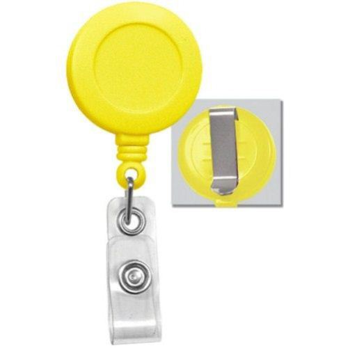 Yellow Round Badge Reel with Belt Clip - 25pk (2120-3039) - $23.59 Image 1