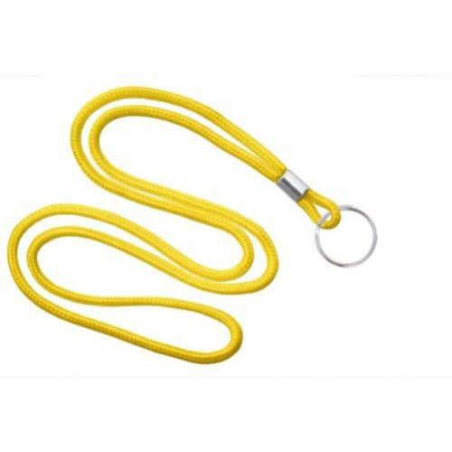 Yellow Round Braid Lanyard with NPS Split Ring - 100pk (MYID21353109) Image 1