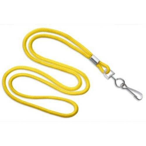 Yellow Round Braid Lanyard with NPS Swivel Hook - 100pk (MYID21353009), MyBinding brand Image 1