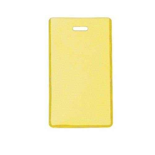Yellow Semi-Rigid Vinyl Luggage Tag Holders - 100pk (1845-2009) Image 1