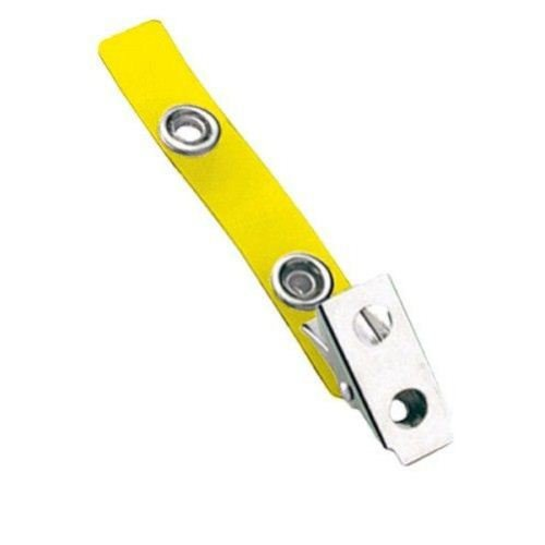 Yellow Vinyl Straps with 2-Hole Smooth Face Clips - 100pk (2105-2009), MyBinding brand Image 1