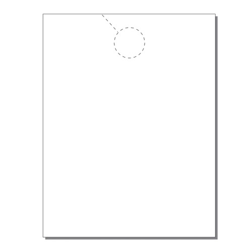 Zapco Print Your Own 1-up Jumbo Door Hangers - 250pk (ZAPDH221) Image 1