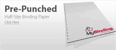 Pre-Punched Half-Size Binding Papers