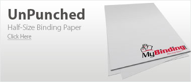 UnPunched Half-Size Binding Papers