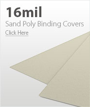16mil Beige Sand Poly Binding Covers