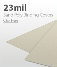 23mil Beige Sand Poly Binding Covers
