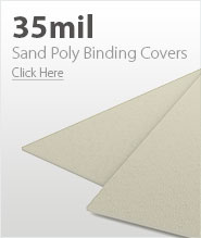 35mil Beige Sand Poly Binding Covers