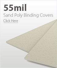 55mil Beige Sand Poly Binding Covers