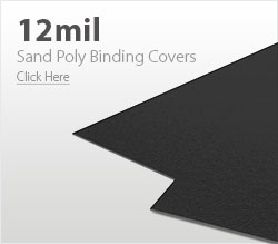 12mil Black Sand Poly Binding Covers