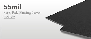 55mil Black Sand Poly Binding Covers