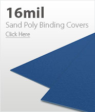 16mil Blue Sand Poly Binding Covers