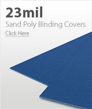 23mil Blue Sand Poly Binding Covers