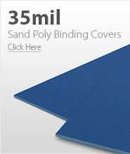 35mil Blue Sand Poly Binding Covers