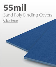 55mil Blue Sand Poly Binding Covers