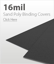 16mil Dark Gray Sand Poly Binding Covers