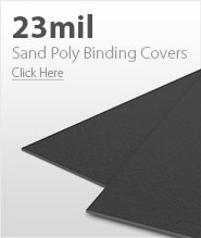 23mil Dark Gray Sand Poly Binding Covers