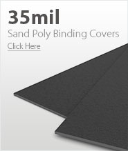 35mil Dark Gray Sand Poly Binding Covers