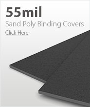 55mil Dark Gray Sand Poly Binding Covers