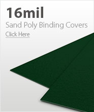 16mil Forest Green Sand Poly Binding Covers