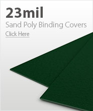 23mil Forest Green Sand Poly Binding Covers