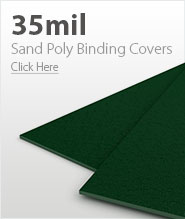 35mil Forest Green Sand Poly Binding Covers