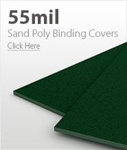 55mil Forest Green Sand Poly Binding Covers