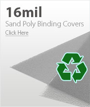 16mil Frost Eco Sand Poly Binding Covers