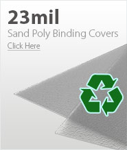 23mil Frost Eco Sand Poly Binding Covers