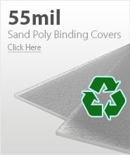55mil Frost Eco Sand Poly Binding Covers