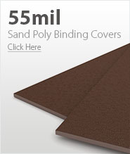 55mil Light Brown Sand Poly Binding Covers