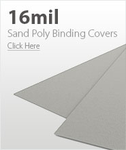 16mil Light Gray Sand Poly Binding Covers