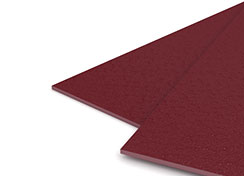 35mil Maroon Sand Poly Binding Covers