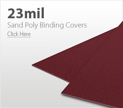 23mil Maroon Sand Poly Binding Covers