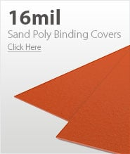 16mil Orange Sand Poly Binding Covers