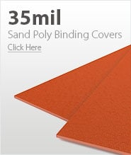 35mil Orange Sand Poly Binding Covers