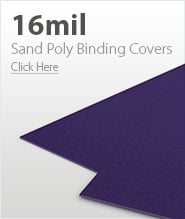 16mil Purple Sand Poly Binding Covers