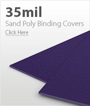 35mil Purple Sand Poly Binding Covers