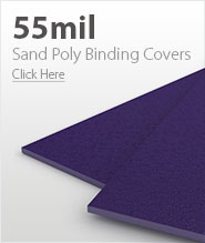 55mil Purple Sand Poly Binding Covers