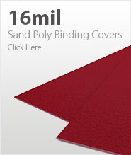 16mil Red Sand Poly Binding Covers
